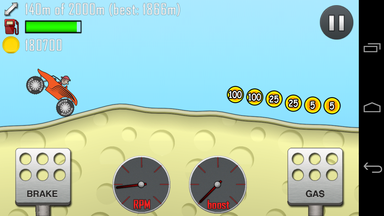 on my Galaxy Nexus: Hill Climb Racing . Hours of fun while traveling