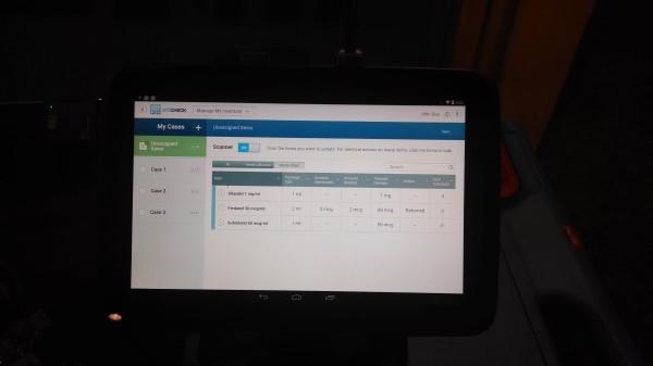 Example Anesthesia Check Screen