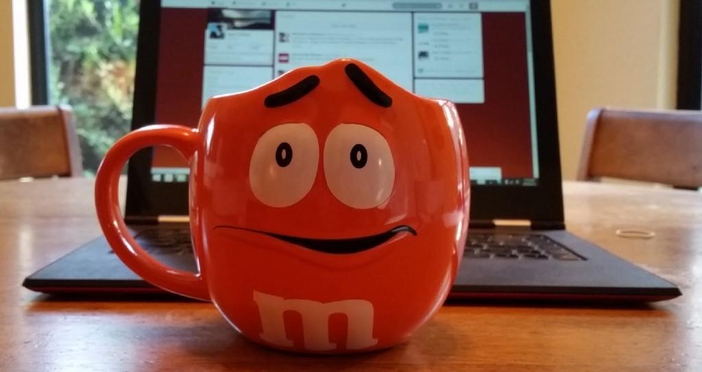 Orange M&M's Coffee Mug