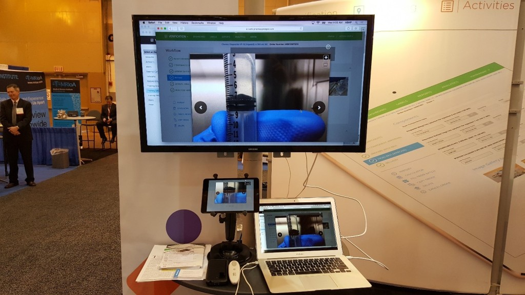 Verification by MedKeeper – images shown on screen taken from outside an isolator